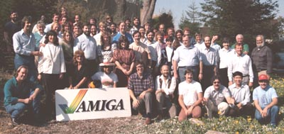 Sassenrath at Amiga (front, right of sign)