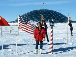 Sassenrath at South Pole, 1982